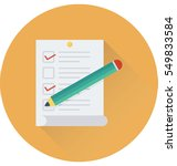 checklist vector icon  | Shutterstock .eps vector #549833584