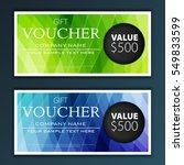 gift voucher template | Shutterstock .eps vector #549833599
