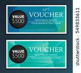 gift voucher template | Shutterstock .eps vector #549833611