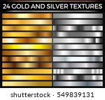 vector set of gold and silver... | Shutterstock .eps vector #549839131