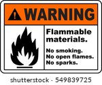 warning sign flammable... | Shutterstock .eps vector #549839725