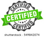 certified. stamp. sticker. seal.... | Shutterstock .eps vector #549842074