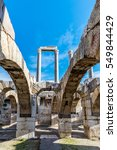 Small photo of Ruins of Agora, archaeological site in Izmir, Turkey