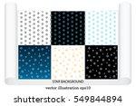 stars background vector... | Shutterstock .eps vector #549844894