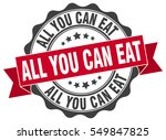 all you can eat. stamp. sticker.... | Shutterstock .eps vector #549847825