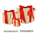 set of festive gifts on white... | Shutterstock . vector #549848899