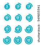 set of timers. sign icon. full... | Shutterstock .eps vector #549855541
