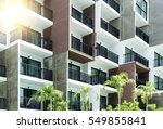 condominium and swiming pool... | Shutterstock . vector #549855841