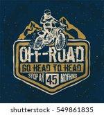 motorcycle. motorcross. off...   Shutterstock .eps vector #549861835