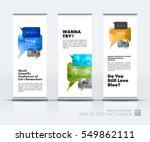 abstract business vector set of ... | Shutterstock .eps vector #549862111