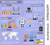 robots infographic set with... | Shutterstock .eps vector #549865699