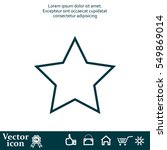 star   vector icon | Shutterstock .eps vector #549869014