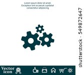 settings icon vetor | Shutterstock .eps vector #549872647