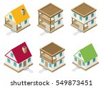 private house real estate... | Shutterstock .eps vector #549873451