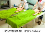 spa relaxation  healthy... | Shutterstock . vector #549876619