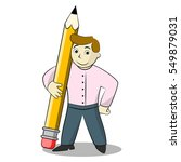 businessman with pencil.... | Shutterstock .eps vector #549879031