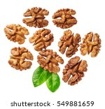 Kernel Walnut Isolated On The...
