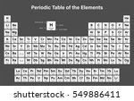 periodic table of the elements... | Shutterstock .eps vector #549886411