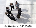 group of business people from... | Shutterstock . vector #54990628