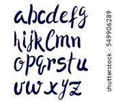 hand drawn alphabet. brush... | Shutterstock . vector #549906289