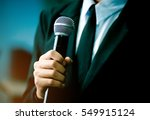 blurred of smart businessman... | Shutterstock . vector #549915124