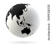highly detailed earth globe... | Shutterstock .eps vector #549918535