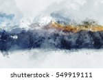 abstract mountain ranges in... | Shutterstock . vector #549919111