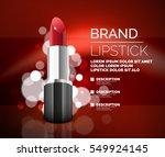 vector realistic lipstick... | Shutterstock .eps vector #549924145