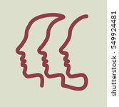 three human profile  drawn by... | Shutterstock .eps vector #549924481