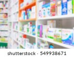 medicines arranged in shelves... | Shutterstock . vector #549938671