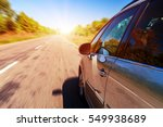 blurred road and car  speed... | Shutterstock . vector #549938689
