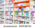 counter store table pharmacy... | Shutterstock . vector #549938701