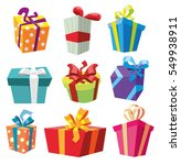 set of gift boxes. present box | Shutterstock .eps vector #549938911