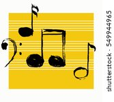 music notes. vector... | Shutterstock .eps vector #549944965