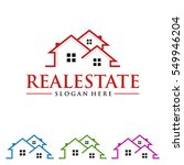 real estate vector logo design... | Shutterstock .eps vector #549946204