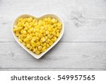 Fresh Corn In Heart Bowl With...
