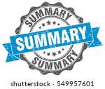 summary. stamp. sticker. seal.... | Shutterstock .eps vector #549957601