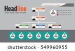 organization chart infographics ... | Shutterstock .eps vector #549960955