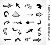 hand drawn arrows  vector set | Shutterstock .eps vector #549976051