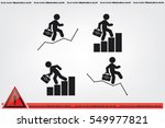 businessman and graph fall and... | Shutterstock .eps vector #549977821