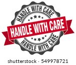handle with care. stamp.... | Shutterstock .eps vector #549978721