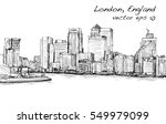 sketch cityscape of london ... | Shutterstock .eps vector #549979099