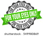 for your eyes only. stamp.... | Shutterstock .eps vector #549980869