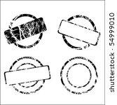 set of stamp   Shutterstock .eps vector #54999010