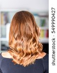 honey balayage hair on young... | Shutterstock . vector #549990427