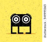 cute black monster with... | Shutterstock .eps vector #549995365