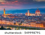 florence. cityscape image of... | Shutterstock . vector #549998791