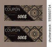 gift voucher in luxury style.... | Shutterstock .eps vector #550003714