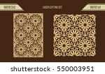 diy laser cutting set. woodcut... | Shutterstock .eps vector #550003951