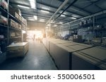 warehouse interior | Shutterstock . vector #550006501